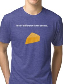 5 Cent Difference White Font Tri-blend T-Shirt