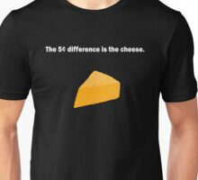 5 Cent Difference White Font Unisex T-Shirt