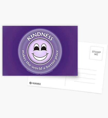 Kindness Makes The World a Better Place - Purple Card Greeting Card