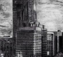 Drawing of the Philadelphia skyline Sticker