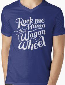 Wagon Wheel Mens V-Neck T-Shirt