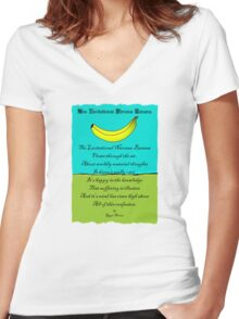 The Levitational Nirvana Banana  Women's Fitted V-Neck T-Shirt