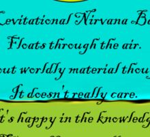 The Levitational Nirvana Banana  Sticker