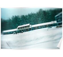 Motel During a SnowStorm Poster