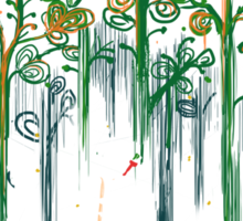 Re-paint the forest Sticker