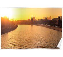 Moscow Kremlin in Winter Evening Light Poster