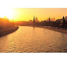 Moscow Kremlin in Winter Evening Light Photographic Print