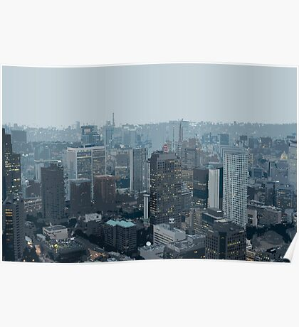 illustrated cityscape Poster