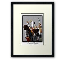 ©HS Analog Brushes IA Framed Print