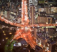 tokyo roads at night by photoeverywhere