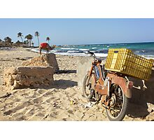 Moped vs. Camel Photographic Print