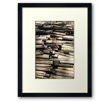 Cut and dried bamboo Framed Print