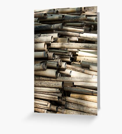 Cut and dried bamboo Greeting Card