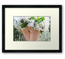 spring time wedding  Framed Print