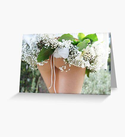 spring time wedding  Greeting Card