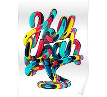 Hell Yeah lettering Poster