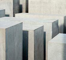 Concrete slabs at the Holocaust Memorial, Berlin by photoeverywhere