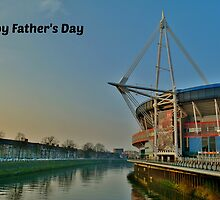 Millennium Stadium, Cardiff - Father's Day Card by Paula J James