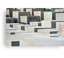holocaust memorail blocks Canvas Print