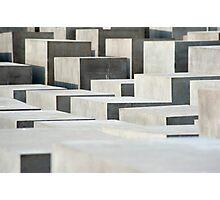 holocaust memorail blocks Photographic Print