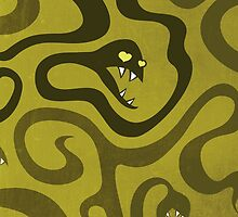 Funny Cartoon Evil Snakes by Boriana Giormova