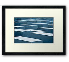 memorial to the murdured jews Framed Print
