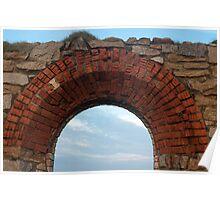 Historic Cornish tin mine ruins Poster