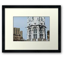 Detail of the Gothic Tower in Cardiff Castle Framed Print