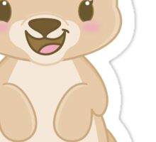 Cute Kawaii Kangaroo Sticker