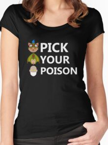 Pick Your Poison (White Text) Women's Fitted Scoop T-Shirt