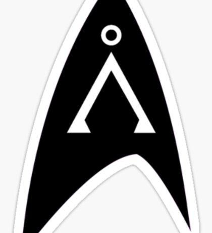 Star Trek and Star Gate: insignia badge Sticker
