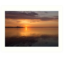 Toronto's Skyline at Sunrise Art Print
