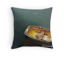 Lonley Boat Throw Pillow