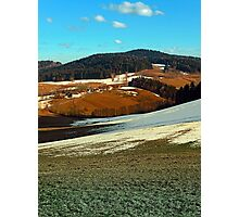 Scenic view below the Bohemian Forest | landscape photography Photographic Print