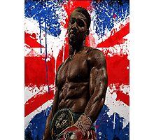 Anthony Joshua Boxing British Flag Rectangle  Photographic Print
