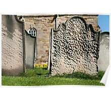 Gravestones at St Marys Church Poster