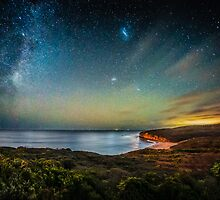 Night Sky Over Bells Beach, Torquay. by Russell Charters