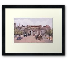 London Admiralty arch new impressionism Framed Print