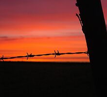 Fence Post Sunset by MetamorphosisRS