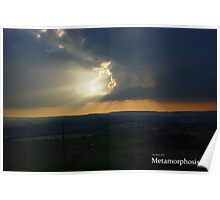 Sunshine through the clouds Poster