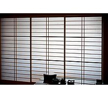 japanese paper screen Photographic Print