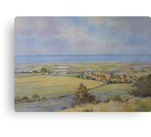 Salthouse from the Heath, North Norfolk by Brian C. Day Canvas Print