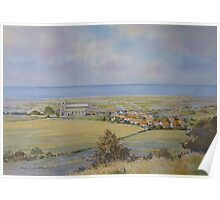 Salthouse from the Heath, North Norfolk by Brian C. Day Poster