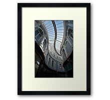 Curving glass roof of the Morgan Arcade Framed Print