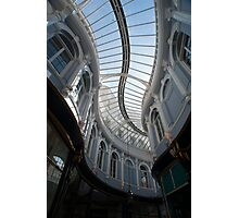 Curving glass roof of the Morgan Arcade Photographic Print