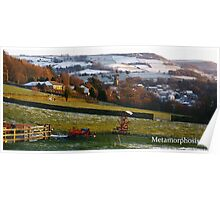 Snowy Holmfirth Landscape Poster