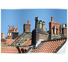 Rooftops and chimney pots Poster