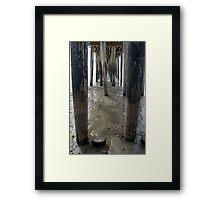 Cayucos Wooden Pier Framed Print