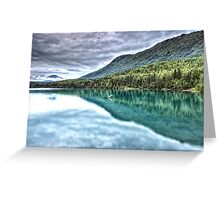 Glacial Green Greeting Card