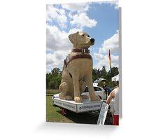 Guide Dog Effigy  Greeting Card